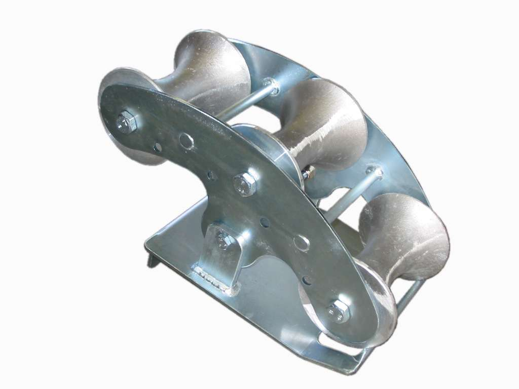 Pivoting Cable Bend Roller Jacks Winches