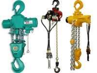 Heavy duty chain hoists, block and tackle and chain block hire